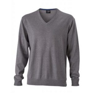 Mens-Sweater-JN659-grey-heather