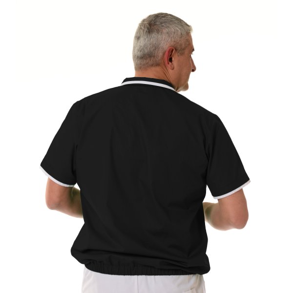 Mens-tunic-for-work-Crater-black-back
