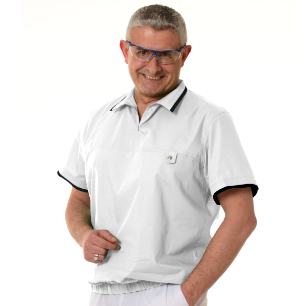Mens-tunic-for-work-Crater-white