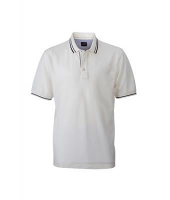 Polo Shirt-off-white-navy-JN947