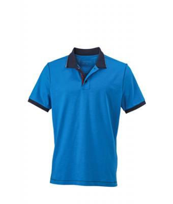 Polo-shirt-azur-navy-JN980