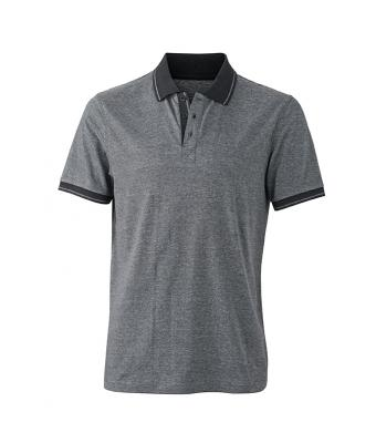 Polo-shirt-black-melange-black-JN706