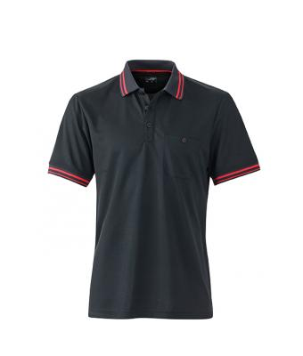 Polo-shirt-black-red-JN702