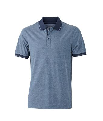Polo-shirt-blue-melange-navy-JN706