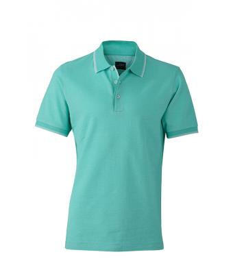 Polo-shirt-caribbean-green-white-JN704
