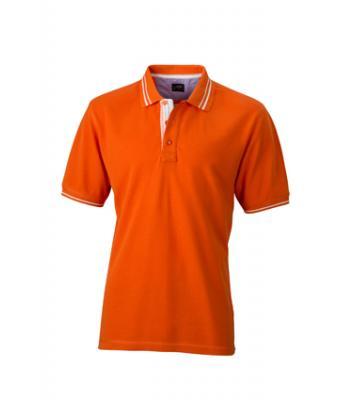 Polo-shirt-dark orange-off-white-JN947
