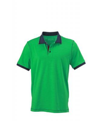 Polo-shirt-ferm green-navy-JN980