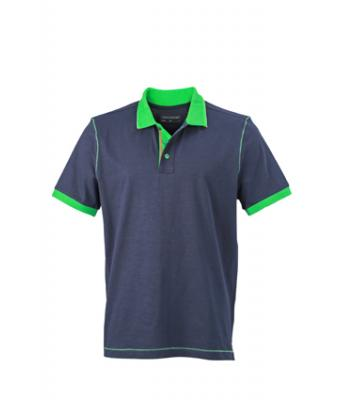 Polo-shirt-graphite-ferm green-JN980