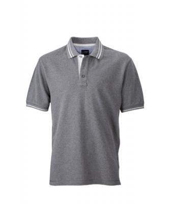 Polo-shirt-grey-melange-off-white-JN947