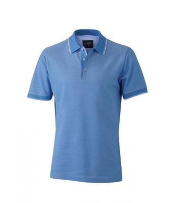 Polo-shirt-light-blue-white-JN704