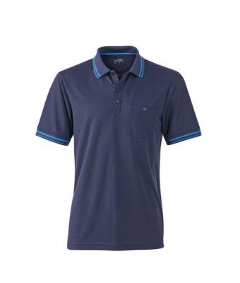 Polo-shirt-navy-aqua-JN702