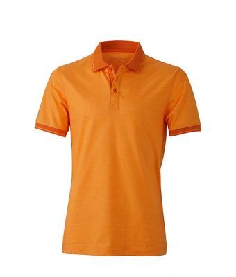 Polo-shirt-orange-melange-dark-orange-JN706