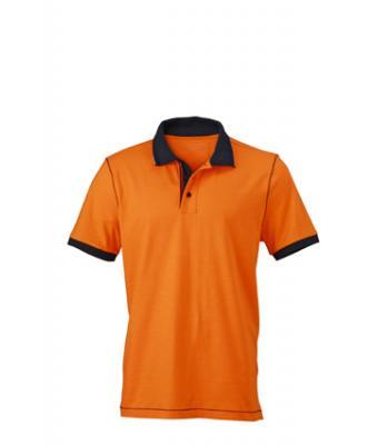 Polo-shirt-orange-navy-JN980