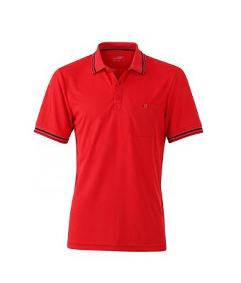 Polo-shirt-red-black-JN702