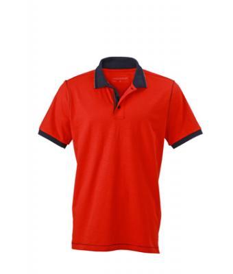 Polo-shirt-tomato-navy-JN980