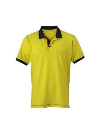 Polo-shirt-yellow-navy-JN980