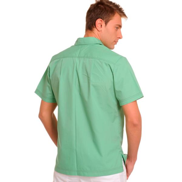 Short-Sleeve-Mens-Shirts-Оrion-green-back