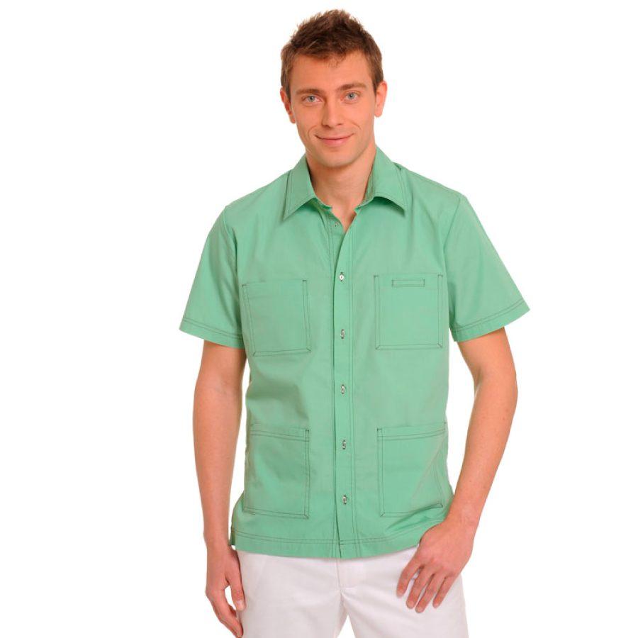 Short-Sleeve-Mens-Shirts-Оrion-green