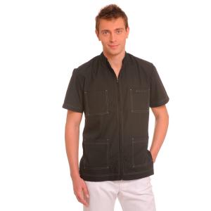 Short-Sleeve-Work-Shirt-for-men-Lynx-black