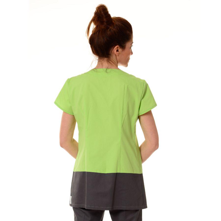 Womens-Tunics-for-Work-Columba-Green-back