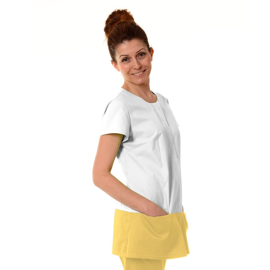 Womens-Tunics-for-Work-Columba-Yellow