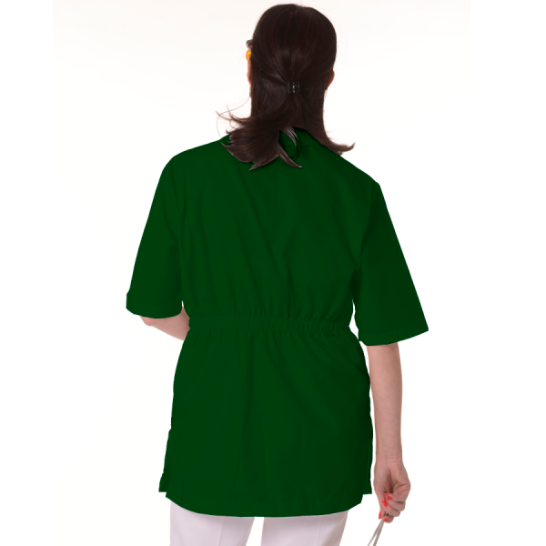 Womens-Tunics-for-Work-Dorado-Green-back