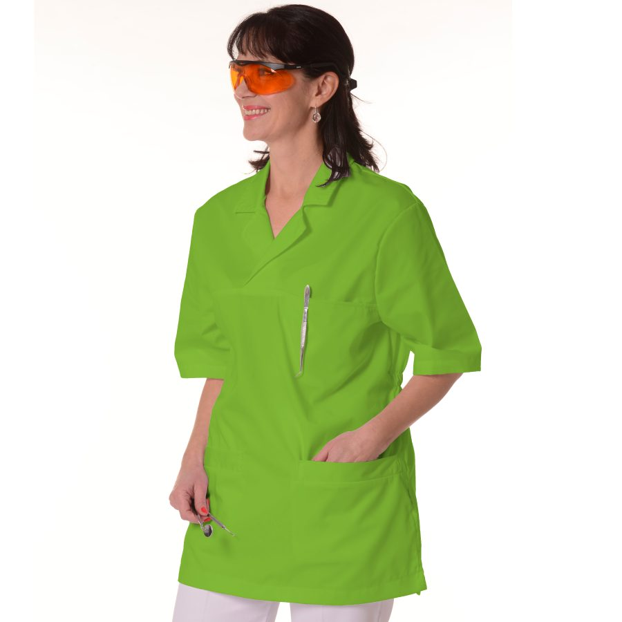 Womens-Tunics-for-Work-Dorado-Lime-Green