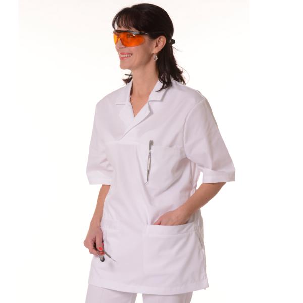 Womens-Tunics-for-Work-Dorado-White
