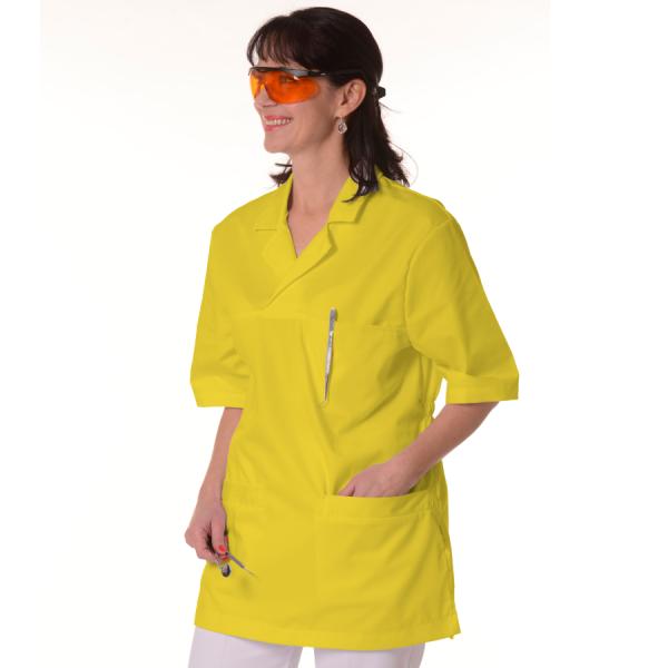 Womens-Tunics-for-Work-Dorado-Yellow