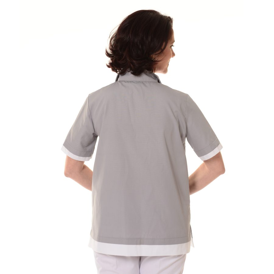 Womens-Tunics-for-Work-Puppis-Grey-back