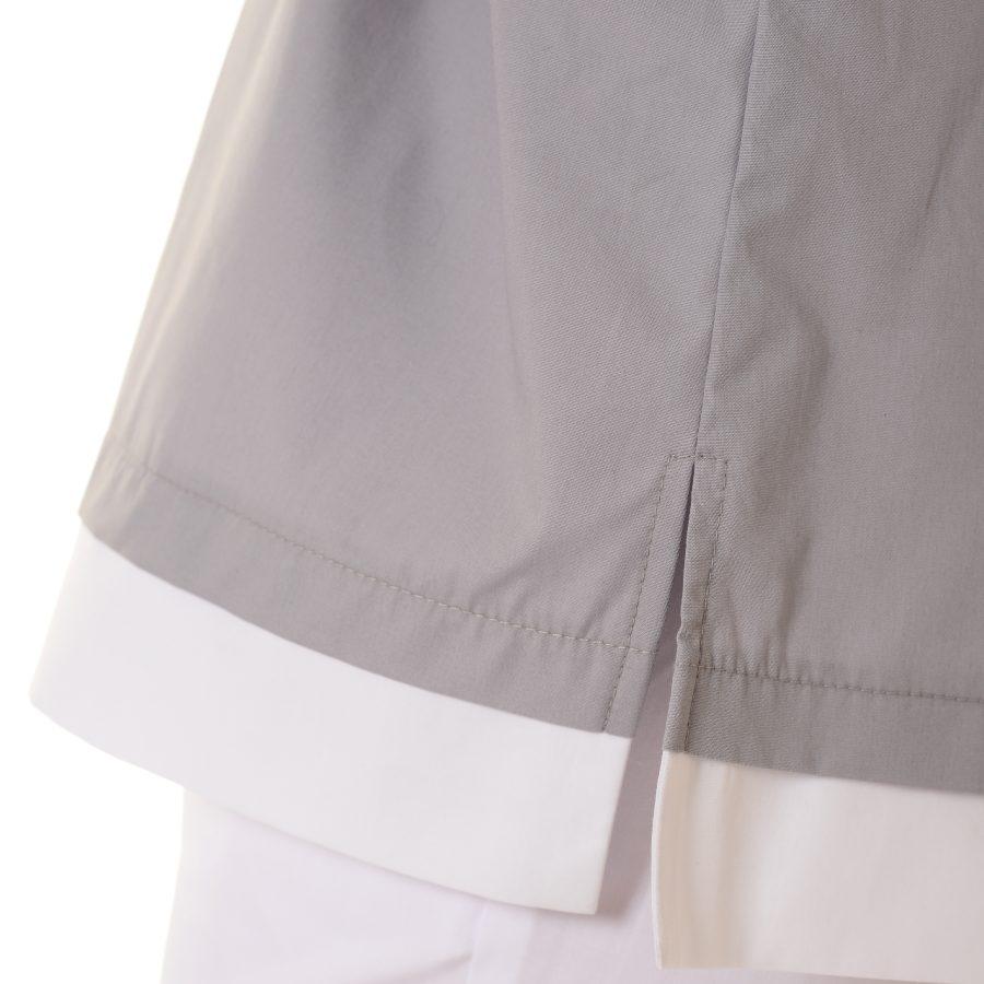 Womens-Tunics-for-Work-Puppis-Grey-slit